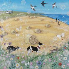 The guardian angel acrylic glass painting folk kids wall ...