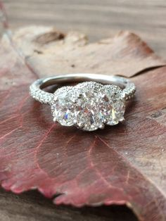 Where did you purchase your ring? Jared Carat size: 2.3 Clarity: SI2 Color: H Metal: white gold Price: $5,001–$7,500   Read more: http://www.weddingbee.com/2016/04/08/diamond-oval-engagement-rings/#ixzz492IuCDh8
