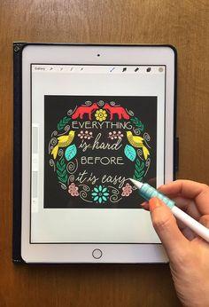 Modern Folk Art Illustrations on Your iPad in Procreate + Free Folk Art Stamp Brushes and Templates Art Illustrations, Illustration Styles, Image Stamp, Scandinavian Folk Art, Affinity Designer, Ipad Art, Free Downloads, Monogram Letters, Sketching