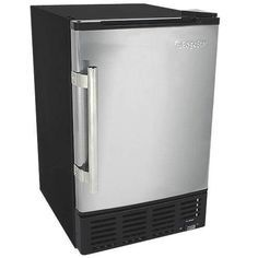 $299 EdgeStar 12 Lbs. Built-In Ice Maker - Stainless Steel/Black @compact appliance