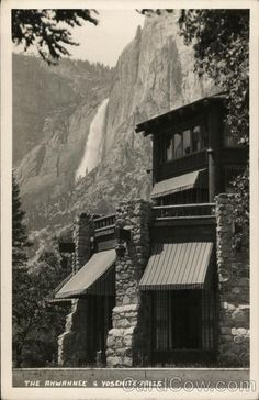 The Ahwahnee and Yosemite Falls Yosemite National Park California