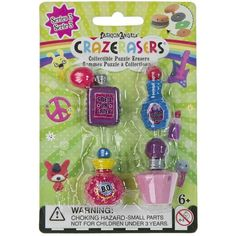 CrazErasers Collectible Erasers Smellin' Sweet (Series 3) (9,33 BRL) ❤ liked on Polyvore featuring home and home decor