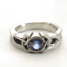 Celtic Engagement Ring With Blue Sapphire Stone & by Spoonier, $72.00