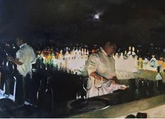 Paul Oxborough (b. 1965) Rooftop Bar, 2015 oil on linen 24 x 34 in. $23,200