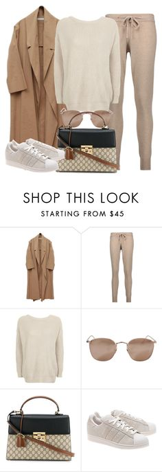 """""""Sin título #11776"""" by vany-alvarado ❤ liked on Polyvore featuring Chinti and Parker, Topshop, Linda Farrow, Gucci and adidas Originals"""