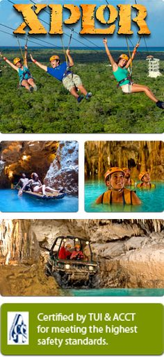 Xplor Park  plus other great day trips from the Grand Palladium, a nice coach picks you up right at your lobby.
