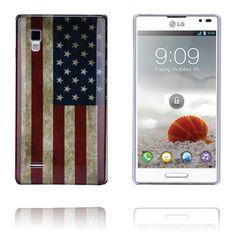 USA Flag LG Optimus L9 Deksel