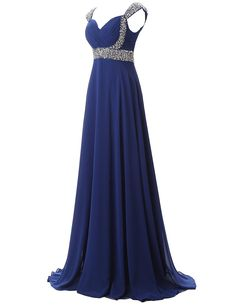 Belle House Women Long Prom Dresses 2018 with Straps A Line Formal Evening Dresses Ball Gown Royal Blue Bridesmaid DressesSd179royal Blue16 * Review  much more at the photo link. (This is an affiliate link). Prom Dresses 2018, Ball Dresses, Sexy Dresses, Ball Gowns, Bridesmaid Dresses, Chiffon Evening Dresses, Formal Evening Dresses, Royal Blue Bridesmaids, Celebrity Dresses