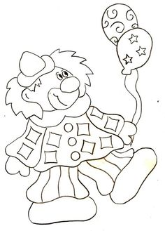 Coloriage - Clown 1 Carnival Crafts, Mardi Gras, Coloring Pages, Diy And Crafts, Kindergarten, Snoopy, Animation, Blog, Kids