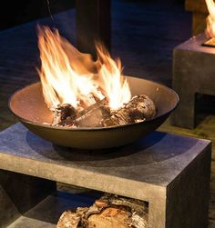 Tabletop Fire Bowl, Taylor Wimpey, Large Fire Pit, Alfresco Area, Fire Bowls, Logs, Cement, Frost, Resin