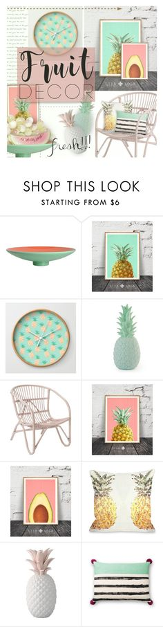"""Fruit Decor"" by kearalachelle ❤ liked on Polyvore featuring interior, interiors, interior design, home, home decor, interior decorating, Zanotta, One Bella Casa, Bloomingville and fruitdecor"