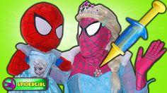 Spidergirl Doctor Frozen Elsa Spiderbaby Poo Prank Doctor - Fun Pink Spi...