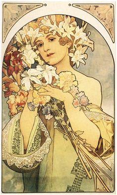 Alphonse Mucha 'Flower' 1897