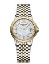 Raymond Weil Tradition Quartz Mother of Pearl Dial Two Tone Stainless Steel Watch# 5966-STP-00995 (Women Watch)