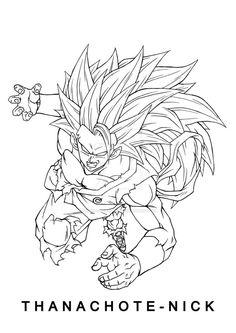 Dragon Ball Super by Thanachote-Nick on DeviantArt Ball Drawing, Line Drawing, Drawing Stuff, Foto Do Goku, Dbz Drawings, Anime Echii, Anime Sketch, Dragon Ball Z, Coloring