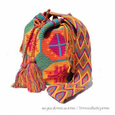 Wayuu Bags are Hot Trend 2014 in Europe and Brasil. FREE SHIPPING. Fairtrade.  wybag-10 on Etsy, $120.00