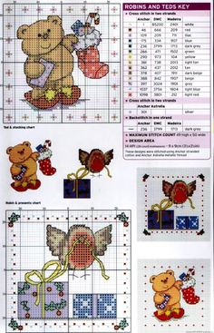 Robins & Teds Charts. These will great on cards for Christmas.