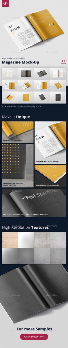 Magazine Mockup  US Letter 8.5x11 inch  — PSD Template #book #design • Download ➝ https://graphicriver.net/item/magazine-mockup-us-letter-85x11-inch/18458274?ref=pxcr