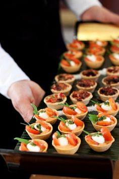 A refreshing, flexible approach to Wedding & Event Catering, Midlands based but catering across the UK. Call The Caterers event catering services. Appetizers For Party, Appetizer Recipes, Party Canapes, Gourmet Catering, Vegetarian Canapes, Party Finger Foods, Mini Foods, Appetisers, Food Presentation