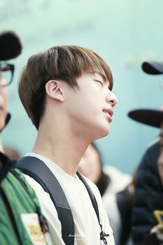 Jin ❤ Seokjin at Incheon airport going to Sulawesi Indonesia for 'Law of the Jungle' #BTS #방탄소년단