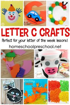 You're not going to want to miss this amazing collection of crafts to teach Letter C! They're perfect for your upcoming Letter of the Week activities! Letter C Preschool, Letter C Activities, Alphabet Letter Crafts, Preschool Activities, Nanny Activities, Preschool Writing, Letter Tracing, Homeschool Kindergarten, Letter Recognition