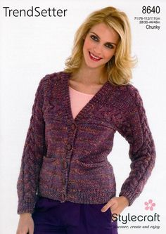 Cardigan in Stylecraft TrendSetter Chunky - 8640