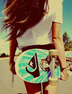 skate/longboarding, I wanna learn! Tumblr Skate, Summer Of Love, Summer Time, Free Summer, Pink Summer, Hello Summer, Summer Baby, Style Summer, Skate Longboard