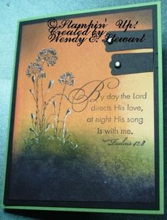CASE of Michelle Zindorf's card, with added greeting - brayer and sponging technique