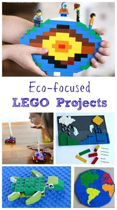 LEGO activities for Earth Science or Earth Day - great environmental projects & ideas for preschool, kindergarten, elementary and middle school kids! Creative ways to learn about the environment with these STEM activities. Earth Day Projects, Earth Day Crafts, Stem Projects, Lego Projects, Science Projects, Science Ideas, Space Activities For Kids, Lego Activities, Earth Day Activities