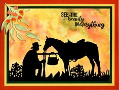 - See the Beauty by helekins - Cards and Paper Crafts at Splitcoaststampers Western Theme, Western Art, Men's Cards, Stampin Up Cards, Australian Christmas Cards, Distress Ink Techniques, Windmill Decor, Horse Cards, Man Card