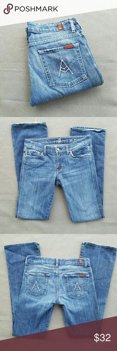 7 For All Mankind Jeans Gorgeous 'A' pocket, excellent condition  Outer-seam 40 in. In seam 32 in. Feel free to ask me any additional questions! Bundles 15% off 3+ items. Happy Shopping!! ?? 7 For All Mankind Jeans Boot Cut