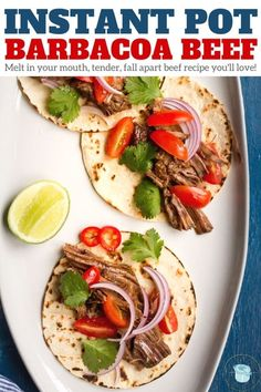 Instant Pot Barbacoa Beef, a melt in your mouth tender, fall apart Mexican beef recipe you'll love! Easy Pressure Cooker Recipe that's gluten free, paleo, and whole30. | www.glutenfreepressurecooker.com | #instantpotbarbacoa #instantpotbeef #instantpot #instapot #electricpressurecooker #glutenfreepressurecooker #glutenfreeinstantpot #glutenfree #barbacoa