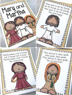 Mary and Martha: Preschool Bible Lesson Preschool Bible Lessons, Bible Lessons For Kids, Bible Activities, Bible For Kids, Preschool Crafts, Kids Crafts, Sunday School Kids, Sunday School Lessons, Sunday School Crafts