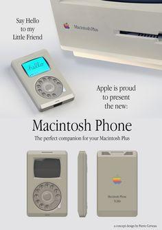 Así seria el iPhone 20 años antes de ser creado. Macintosh Phone.