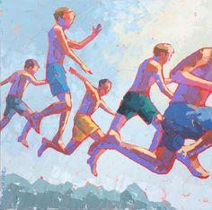 "Paul Norwood, ""Mid Air"", 36 x 36, Oil | Eisenhauer Gallery of Edgartown, MA"