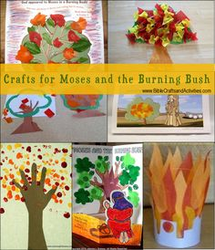 Crafts for Moses and the Burning Bush - www.BibleCraftsandActivities.com