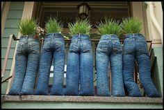 un peu d'humour sur le balcon