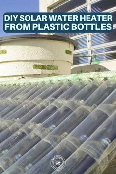 DIY Solar Water Heater From Plastic Bottles - Jose Alano is a retired mechanic that lives in Brazil. Jose invented a solar water heater from a pile of plastic bottles and cartons. This is great for the environment as it frees up waste trash and if you decide to build one you could use old bottles or what ever you have available.