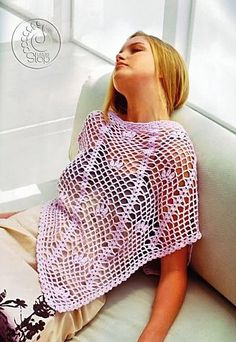 Pink Shawl free crochet graph pattern