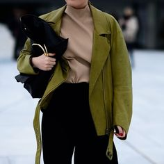Green and beige for spring - by @le21eme for @wmag #streetstyle #fashion…