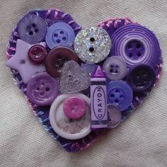 #Heart Shaped Button #Brooch