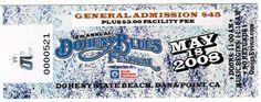 Concert Ticket Stub: Doheny Blues Festival at Doheny State Beach, Dana Point, CA May 18, 200