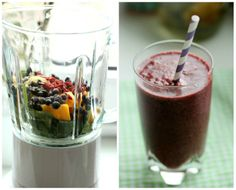 Smoothie of the Day - Tropical-Mango- Blueberry | SASIBELLA