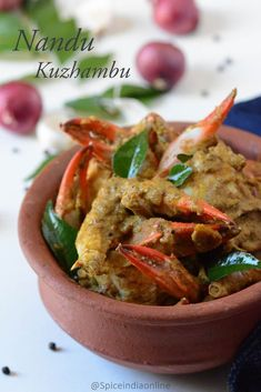 Side Gravy for Biryani - Biryani Side dish — Spiceindiaonline Best Seafood Recipes, Fried Fish Recipes, Crab Recipes, Veg Recipes, Easy Healthy Recipes, Cooking Recipes, Bangladeshi Food, Crab Dishes, Indian Cookbook