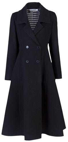 Jil Sander Manila Long Coat in Black