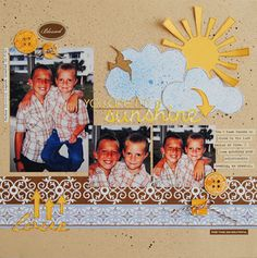 You are my sunshine by Rene Sharp at Studio Calico Scrapbook Supplies, Scrapbooking Layouts, Scrapbook Pages, Silhouette Projects, Silhouette Cameo, Use Me, Studio Calico, You Are My Sunshine, Projects To Try
