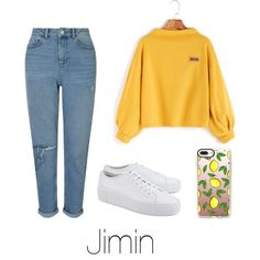Coffee with Jimin by infires-jhope on Polyvore featuring moda, Miss Selfridge, Common Projects and Casetify