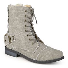 Journee Collection Womens Lace-up Buckle Detail Boots >>> New and awesome boots awaits you, Read it now  : Booties