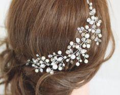 Parure de mariage pièce de cheveux de mariée par SvetloDesign