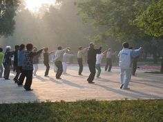 Tai Chi in the morning